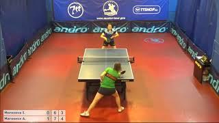 Настольный теннис матч 140718 18 Морозова Инна Марусева Анна 1-2 место