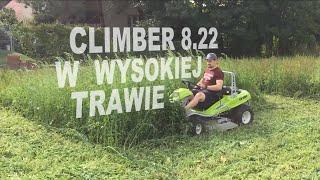 Czy karczownica Climber 8.22 radzi sobie z koszeniem wysokiej, gęstej i mokrej trawy?