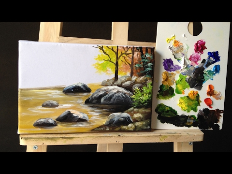 how to paint Stones and Rocks with acrylic lesson 2