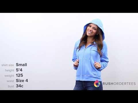 Hanes W280 | Ladies'  80/20 ComfortBlend EcoSmart Full-Zip Hood | RushOrderTees