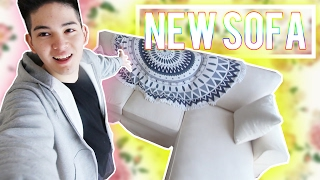 【高額出費(汗)】ニトリの新しいソファ買った!!!!!!!!!!!!!!!!!!!!!!!!!!!!!!!!!!!!!!!!! thumbnail