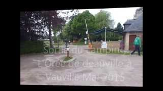 vauville Sortie du camping MCH