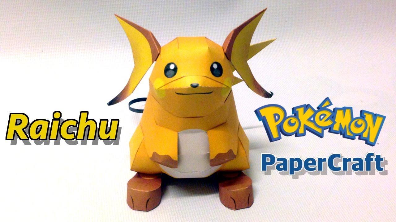 How To Make Raichu Pokemon Papercraft Youtube