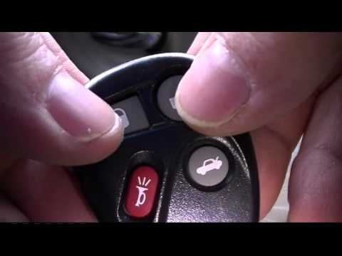 How to Re Program a GM Keyless Entry Car Remote Buick Chevy Cadillac Pontiac