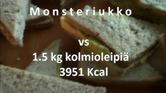 Monsteriukko vs 1.5 kg kolmioleipiä ruokahaaste