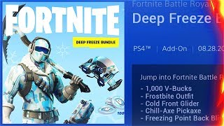 How To Get The New DEEP FREEZE Starter Pack! New DEEP FREEZE Skins Bundle! (Fortnite Battle Royale)