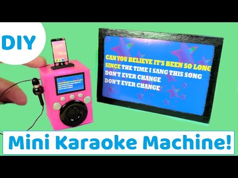 DIY Miniature Doll Karaoke Machine, Phone, & TV - How to Make