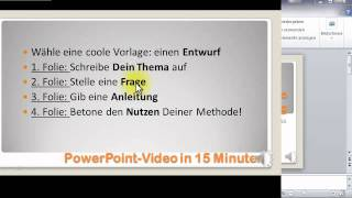 Video Marketing mit PowerPoint 2010: Präsentation erstellen [9/12] Aufzeichnung (in deutsch)