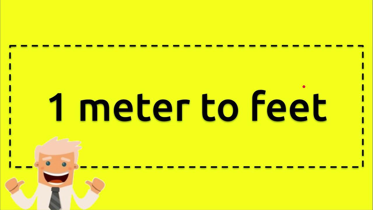 1 meter to feet - YouTube