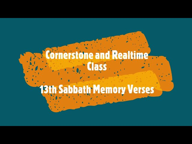 13th Sabbath Presentation || Teens Class || Third Quarter 2021
