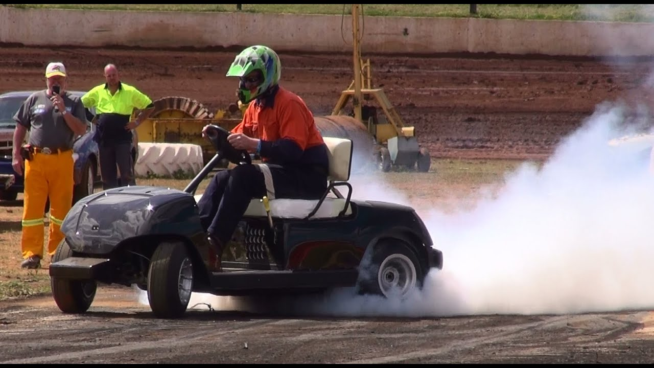 Hayabusa Powered Golf Buggy At Dubbo Burnouts 21 9 2013