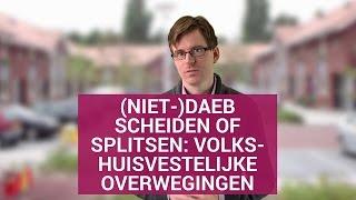 (Niet-)Daeb: Scheiden of splitsen? Volkshuisvestelijke overwegingen