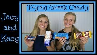 Trying Greek Candy ~ Jacy and Kacy