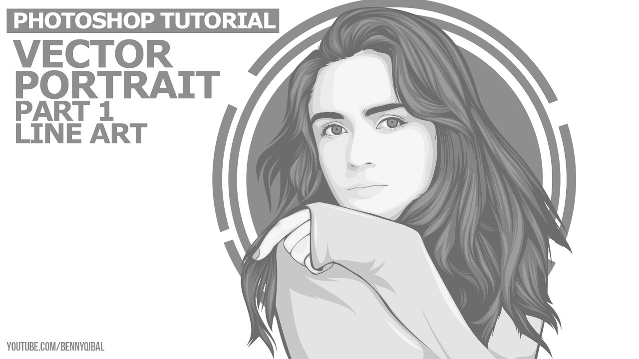 14 monochrome vector portraits photoshop tutorial outline youtube baditri Images