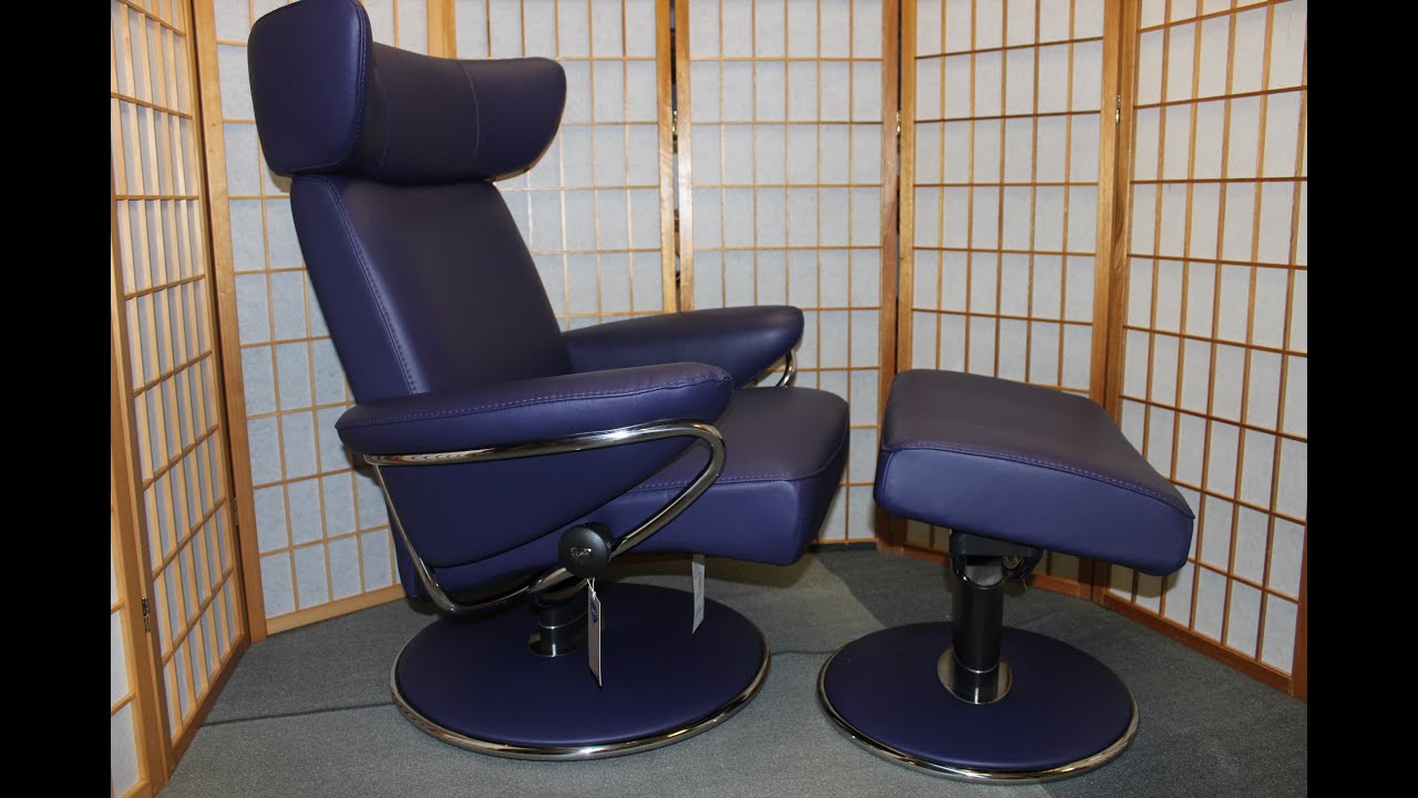 Ekornes chairs for sale stressless paloma indigo leather by ekornes - Ekornes Chairs For Sale Stressless Paloma Indigo Leather By Ekornes 4