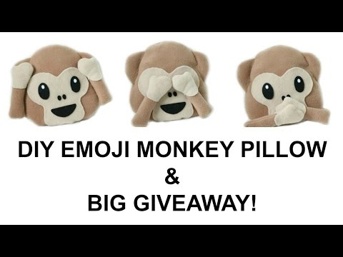 DIY Emoji Monkey Pillow   1000 Subscriber GIVEAWAY CLOSED   Jtru