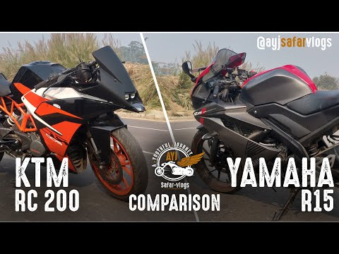 KTM RC 200 & YAMAHA R15 Comparison | Quick Review | AYJ Safarvlogs
