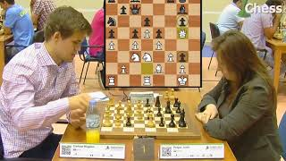 Carlsen - Polgar | 2014 Dünya Satranç Yıldırım Şampiyonası Oyun Analizi