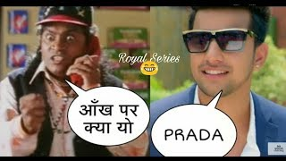 Jass Manak ( Prada ) and Johnny Lever funny call Dubbing Haryanvi Video | Royal Series
