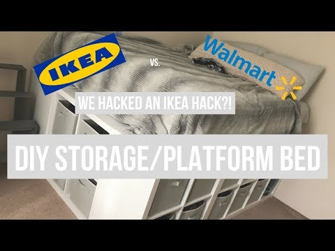 IKEA Hack Platform Bed DIY Turned WALMART Hack