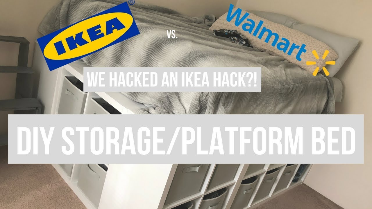 Ikea Hack Platform Bed Diy Turned Walmart Hack Youtube