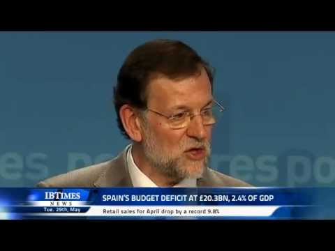 Spain's budget deficit at £20.3bn, 2.4% of GDP
