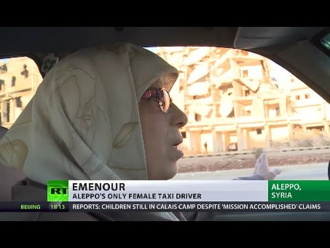 'Aleppo was like Paris before war' - city's only female taxi driver