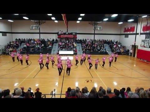 Algona High School/Bishop Garrigan High School Pink Out performance