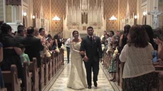 Ariel and Robert wedding highlight at Our Lady of The Lake - Crissman Videography