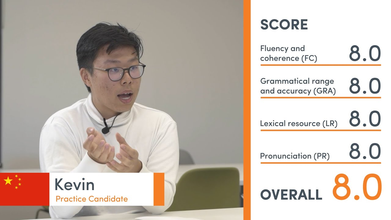 Band 8.0 Speaking Exam - Kevin from China
