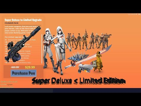 Super Deluxe To Limited Edition Upgrade Fortnite STW