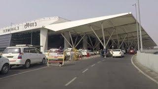 Driving in Delhi (IGI Airport T3) - India