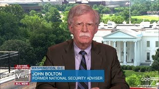 "John Bolton Says Trump's Criticisms of Book ""Degrade the Office of the Presidency"" 
