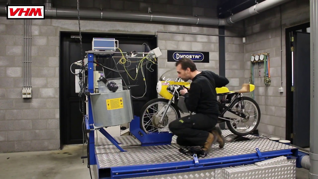 VHM Dyno Room Kreidler 50cc testing piston and insert including onboard  action