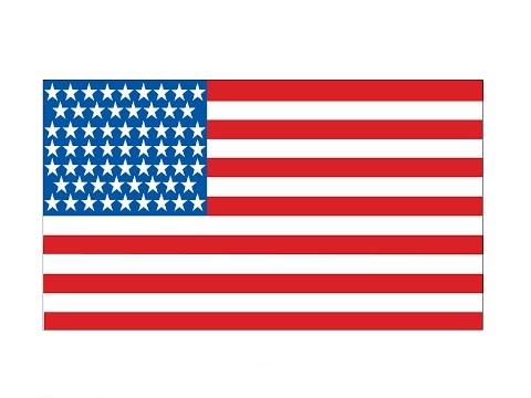 How To Draw An USA Flag / Как нарисовать флаг США