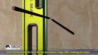 How To Install a Single Shower Door from Troy Systems