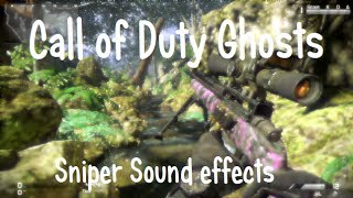 Call of Duty Ghosts: Sniper Sound effects! [+BASS Sounds][+Download]