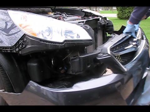 How to remove the front bumper cover, headlamp assemblies and front