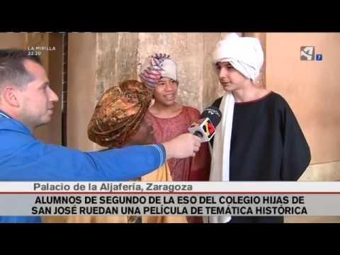"""El rodaje de """"El señor del cero"""" en la Aljafería - Reportaje en Aragón TV"""