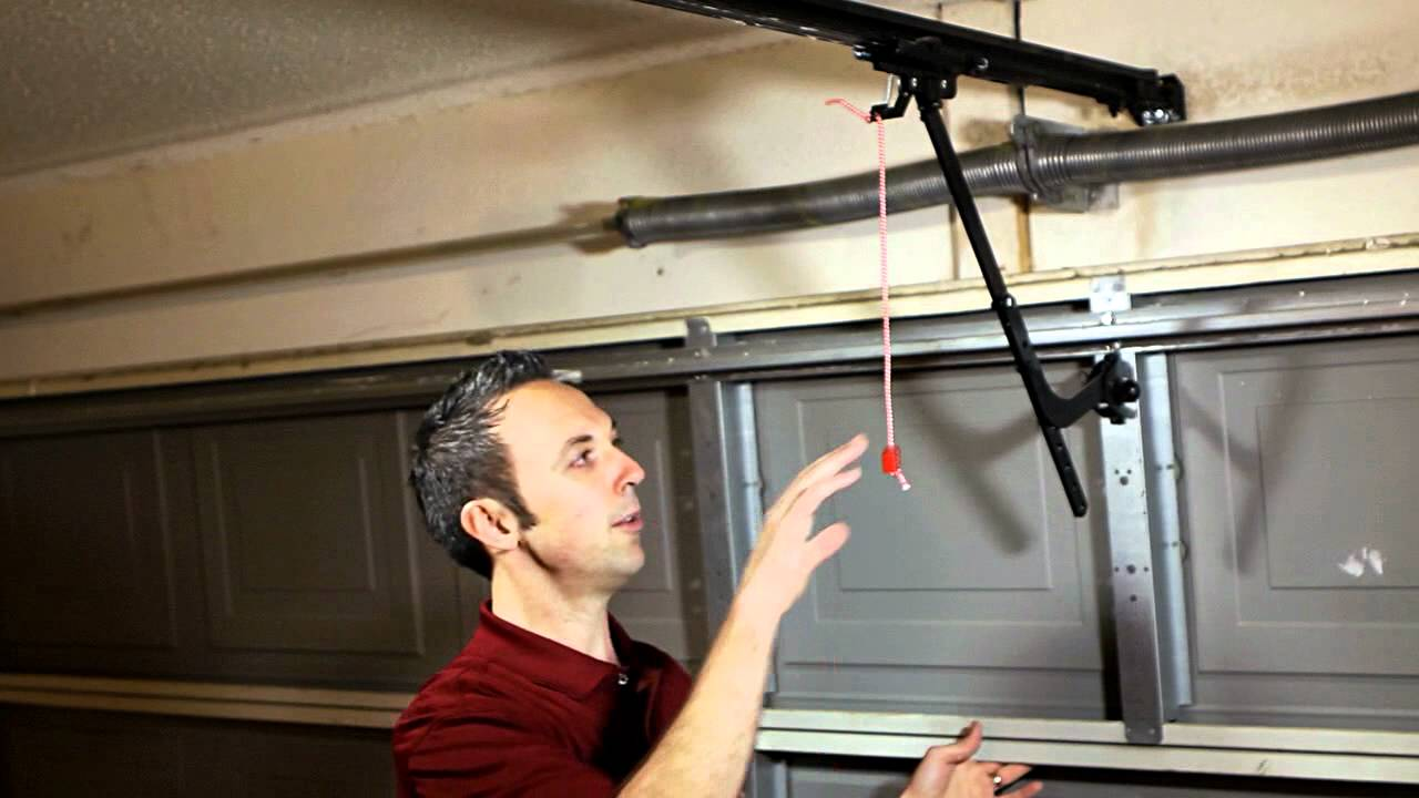 Manual Disengage for LiftMasterSears Garage Door Opener