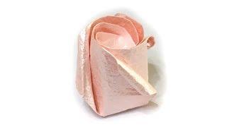 Origami standard rose tutorial (Kawasaki Rose)