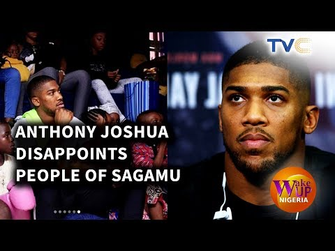 Anthony Joshua Disappoints People Of Sagamu  On First Visit To Nigeria