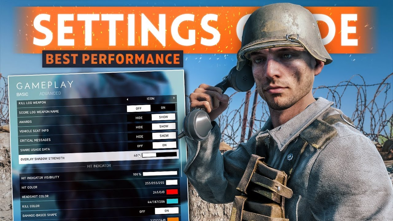 BEST HUD SETUP GUIDE For Battlefield 5! - (Get More FPS, Best PC  Performance Settings & MORE)