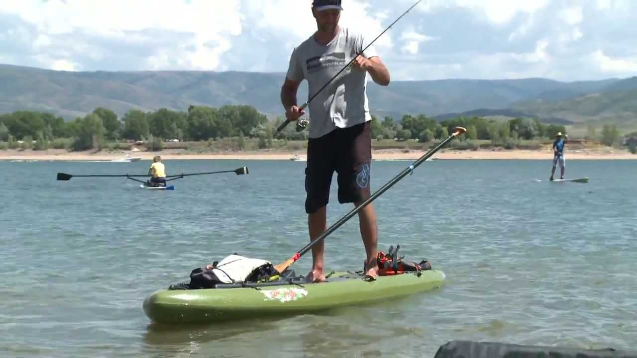 Jackson superfishal fishing paddle board youtube for Sup fishing board