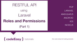 Creating Restful API using Laravel - Roles and Permissions (Part 1)