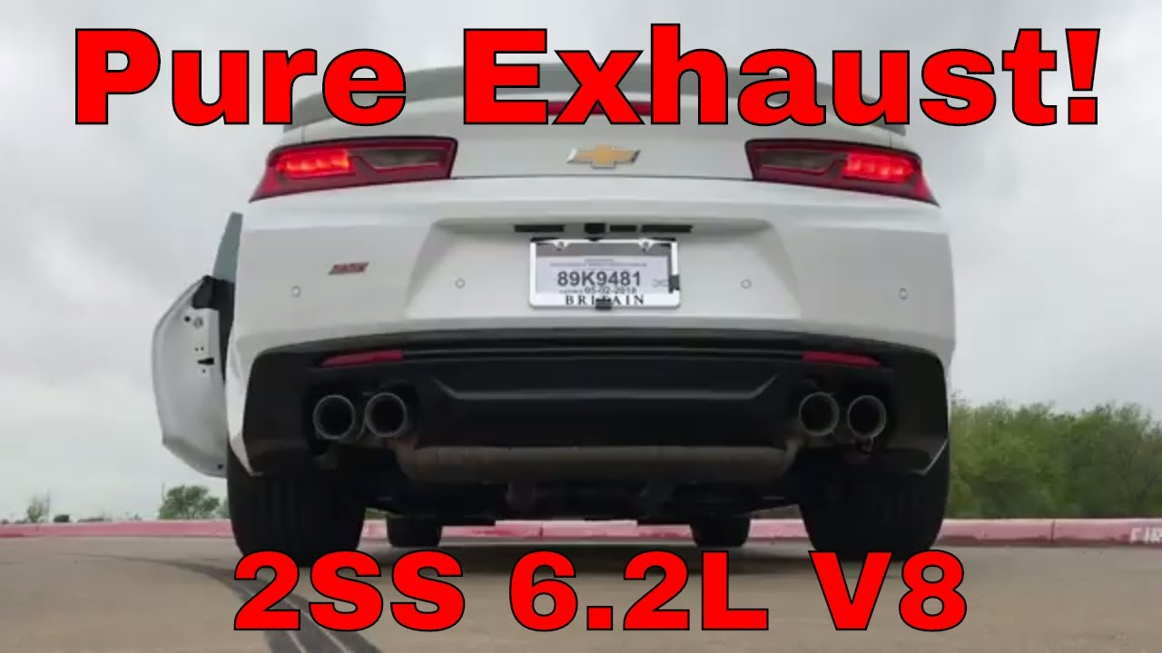 pure exhaust sound 2018 chevy camaro 2ss dual mode exhaust