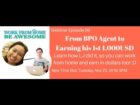 Virtual Assistant Training: From BPO Agent to Earning his 1st 1,000USD Working From Home