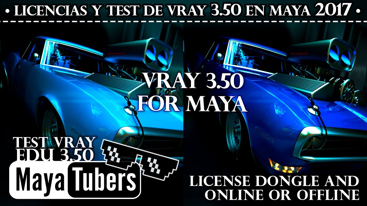 UnBoxing VRay for Maya Dongle EDU How Install, types of Licenses & test  with V-Ray Adv - MayaTubers