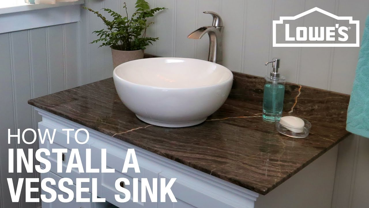 How To Install A Vessel Sink YouTube - Drop in bathroom sink replacement