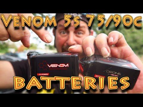 Review: Venom 5S 75C 90C FPV Drone Batteries!!! (02 04 18) - YouTube